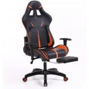 Sintact Gamer scaun portocaliu /negru cu spatar picior - A Sosit! Ultimul design, suprafață chiar mai confortabilă!