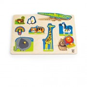 Hape-Wooden Wild Animals Peg Puzzle