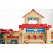 Jeujura Castle - 300 Piece Wooden Construction Set