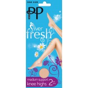 Pretty Polly - Silver Fresh medium support knee highs