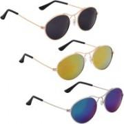 Phenomenal Oval Sunglasses(Black, Yellow, Blue)