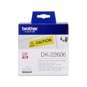 Brother Consumible Original Brother DK22606 Cinta continua de película plástica (amarilla). Ancho: 62 mm. Longitud: 15,24 m para impresoras etiquetas QL