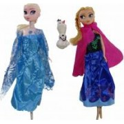 Set papusi muzicale Frozen Anna Elsa si Olaf 33 cm varsta 3 ani+