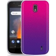 Nokia 1 Hoesje roze paarse cirkels