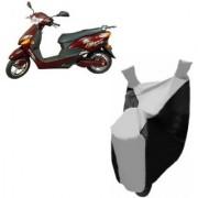 AUTOAGE Premium SILVER with BLACK Bike Body Cover For Hero Electric Bikes Electric Optima Plus