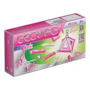 Set de constructie magnetic, Geomag - Pink, 22 piese