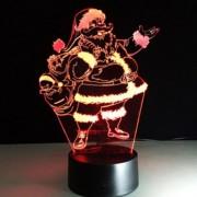 3D Karácsonyi RGB LED lámpa - Mikulás