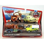 Disney / Pixar CARS 2 Movie Exclusive 155 Die Cast Car 2Pack Mater with Spy Glasses Acer Maters Secr