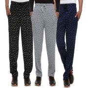 Vimal-Jonney Cotton Blended Multicolor Trackpants For Men (Pack Of3)