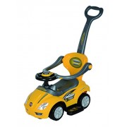 Toyhouse Ride on 3 in 1 Deluxe Mega Push Car with Push Handle, Yellow