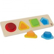 Hape First Shapes Toddler Wooden Learning Puzzle