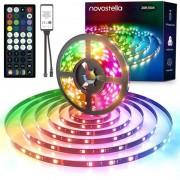 Музикална Водоустойчива RGBIC LED Лента Novostella Rainbow с RF Дистанционно 6м/12м
