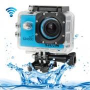SJCAM SJ4000 WiFi Full HD 1080P 12MP Diving Bicycle Action Camera 30m Waterproof Car DVR Sports DV with Waterproof Case(Blue)