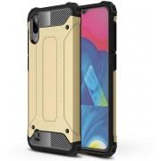 Samsung Galaxy A10 Dual Layer Tank Cover Case Gold