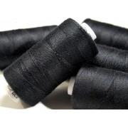 Hagal Unipoly 30 farmervarró cérna, 200m, poliészter, Fekete, 999