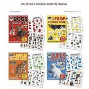 Farm Zoo Cat Dog Wild Animals Stickers 4 Sticker Activity Books 280 Stickers W/ Amazing Animal Facts Stickers For Ki