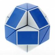 rompecabezas de cubo de regla de serpiente magica shengshou juguete de giro de 24 wedges sin etiqueta - azul + blanco