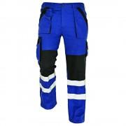 Pantaloni de lucru cu benzi reflectorizante Cerva MAX REFLEX, 100% bumbac, 240gr mp