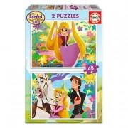 Borras Educa Borras - Rapunzel - Puzzle 2x48 Piezas