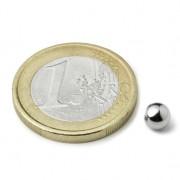 Magnet neodim sfera, diametru 5 mm, putere 400 g