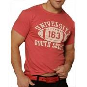 Good Boy Gone Bad University South Dakota Short Sleeved T Shirt Red