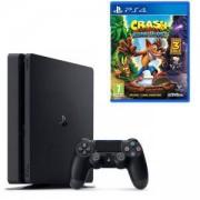 Конзола PlayStation 4 Slim 500GB Black, Sony PS4 + Игра Crash Bandicoot N. Sane Trilogy за Playstation 4