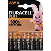 Pack de 8 piles AAA Duracell Plus Power (MN2400B8)