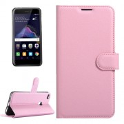Huawei P8 Lite (2017) & P9 Lite (2017) & Honor 8 Lite Litchi Texture Horizontal Flip Leather Case with Magnetic Buckle & Holder & Card Slots & Wallet (Pink)