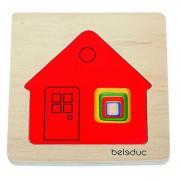 Hape - Beleduc - Cottage 5-Piece Layer Puzzle