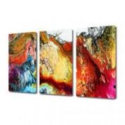 Tablou Canvas Premium Abstract Multicolor Imbinare De Culori Decoratiuni Moderne pentru Casa 3 x 70 x 100 cm
