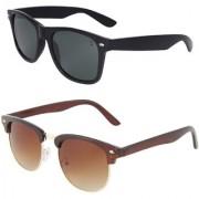 Zyaden Combo of Wayfarer Sunglasses Clubmaster Sunglasses (Combo-62)
