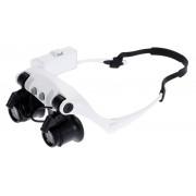Szemüveg típusú nagyító LED világítással 4db nagyító 10X / 15X / 20X / 25X - NO.9892G-3A