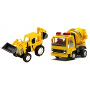 Centy Pull Back Combo Offer Of JCB With Cement Mixer (Color May Varry)