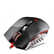 Mouse A4Tech Bloody Terminator Laser Gaming TL60, 8200 dpi, 9 butoane programabile, USB, silver-black