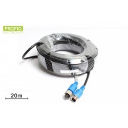 Kvalitný 4 pin odtienený kábel k AHD kamere 20 m