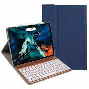 Detachable Bluetooth Keyboard Leather Shell (with 7-color Backlight) for iPad Pro 11-inch (2020)/Pro 11-inch (2018) - Blue