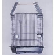 Max 908 Ptačí voliéra klec šedá antická pro ptáky papoušky 630 x 530 x 840 mm