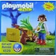 Girl w/ Bunnies Playmobil Pals Figure # 4529