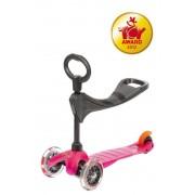 scuter Mini Micro 3 în 1 Roz