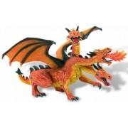 Dragon orange cu 3 capete