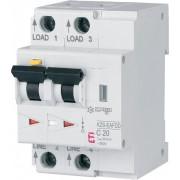 Siguranta AFDD+ protectie incendiu cauzat de arc electric 20A, 10Ka,tip A,curba C combinat cu diferential 30ma RCBO ETI