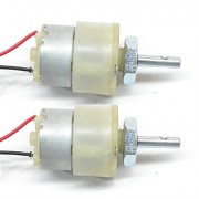 NASA Tech 300 Rpm, 12V DC Geared Motors (2pcs) II 2pcs Gear Motor for Projects