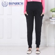 2017 Spring autumn Knitted Loose Maternity Pants Drawstring High Waist Belly Casual Pants for Pregnant Women Pregnancy Trousers