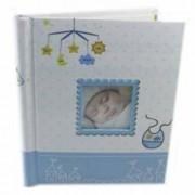 Album foto personalizabil My Baby 40 pagini autoadezive margini aurii culoare albastru