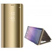 Luxury Series Mirror View Samsung Galaxy Note9 Flip Case - Gold