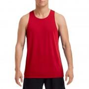 Gildan Mouwloos heren tshirt rood