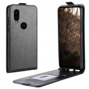 Bolsa Flip Vertical para Motorola One Vision - Preto