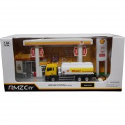 Rmz city modellino shell service station in scala 1:64 094389