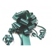 A pack of 4 x DARK GREEN 30 mm SATIN PULL BOW