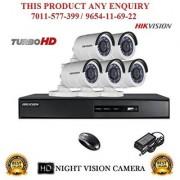 Hikvision 2 MP Turbo DS-7208HQHI-F1 8CH DVR + Hikvision DS-2CE16DOT-IR Night Vision Bullet Camera 5pcs Combo